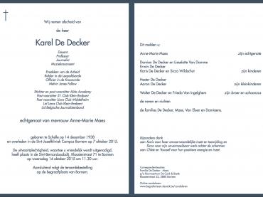 IM Karel De Decker