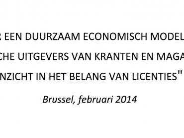 Studie: duurzaam economisch model voor Belgische printuitgevers